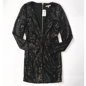 NWT Black Sequins dress special occasion size S